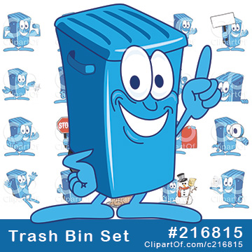 Blue Trash Bin Mascots [Complete Series]