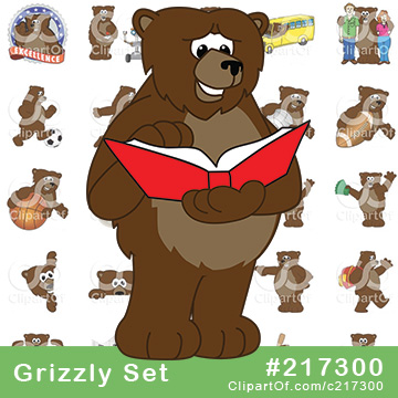 Grizzly Bear School Mascots [Complete Series]