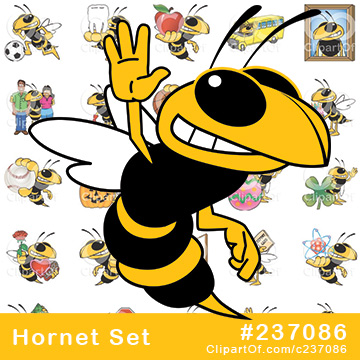 Hornet or Yellow Jacket Mascots [Complete Series]