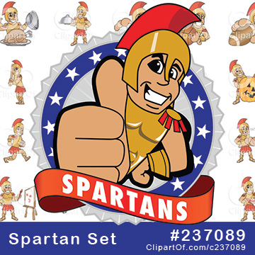Spartan or Trojan Mascots [Complete Series]