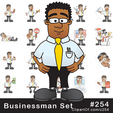 Black Businessman Mascots [Complete Series]
