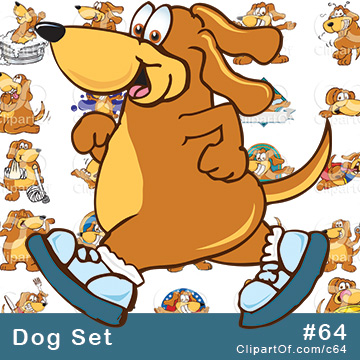 Dog Mascots - Royalty Free Clip Art Collection #64