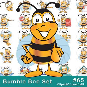 Bumble Bee Mascots - Royalty Free Clip Art Collection #65
