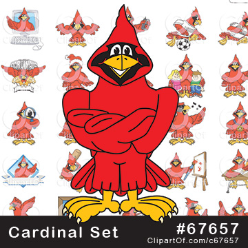 Cardinal Mascots - Royalty Free Clip Art Collection #67657