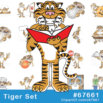 Tiger Mascots - Royalty Free Clip Art Collection #67661