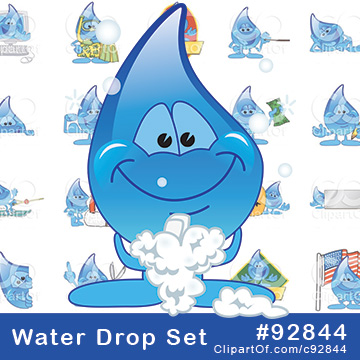 Water Droplet Mascots [Complete Set!]