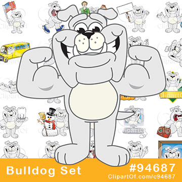Bulldog Mascots - Royalty Free Clip Art Collection #94687