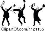 royaltyfree rf clipart of harvard fans illustrations