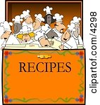 Concept: Chef's & Cooks in a Recipe Box